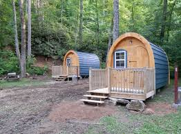 cabins in woods