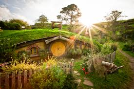 hobbit home in sun