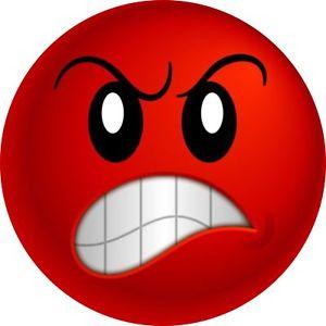 Angry red emoji