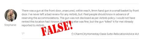 Stephanie defamatory review false