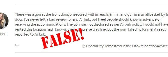 When An Airbnb Host is Terminated Based on False Statements by the Guest