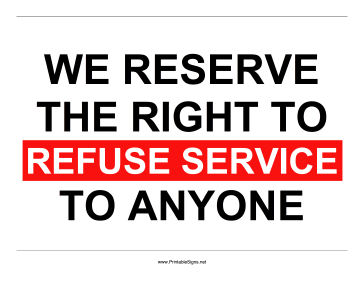 Refuse_Service_Sign