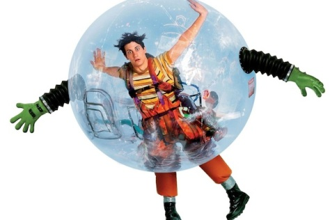 Boy in big bubble