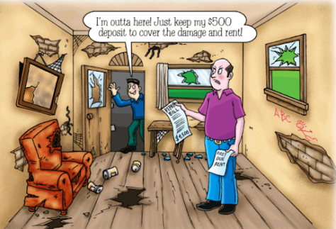 bad renter cartoon